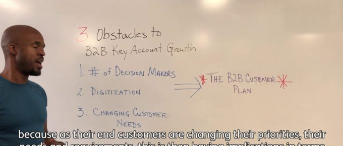 "Screen capture of Michael Haynes presenting ""3 Obstacles To Growing Key Accounts (And How To Overcome Them"" for LIG TV"