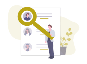 Graphic icon for identifying your ideal client for customer acquisition and business growth