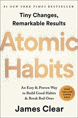 Book cover - Atomic Habits by James Clear